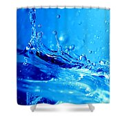 Water Splash Shower Curtain
