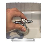 Water Tap Shower Curtain