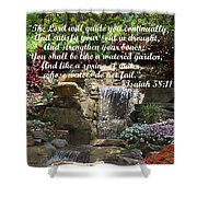 Watered Garden Shower Curtain