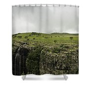 Waterfall Flowing Over The Edge Shower Curtain