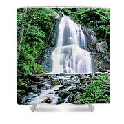 Waterfall In A Forest, Moss Glen Falls Shower Curtain