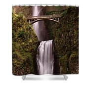 Waterfall In A Forest, Multnomah Falls Shower Curtain