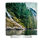 Waterfall Jervis Inlet Shower Curtain