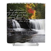 Waterfall With Scripture Shower Curtain