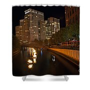 Waterfire.  Providence Rhode Island Shower Curtain