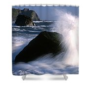 Waves Breaking On Shore Shower Curtain