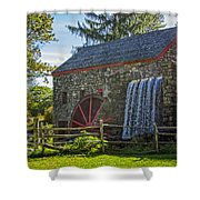 Wayside Inn Grist Mill Shower Curtain