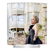 Wealthy Woman Shower Curtain