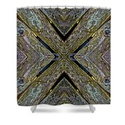 Weathered Wood Tiled IIi Shower Curtain