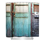 Welcome Home In Beijing Shower Curtain by Glennis Siverson