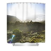 West Coast Range Landscape In Tasmania Australia Shower Curtain