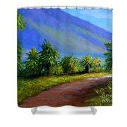 West Maui Mountains Shower Curtain