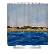 West Michigan Dunes Shower Curtain