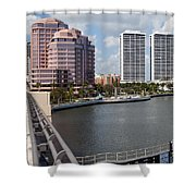 West Palm Beach Skyline Shower Curtain