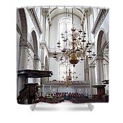 Westerkerk Interior In Amsterdam Shower Curtain