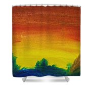 Western Sunset Shower Curtain by Steve Jorde
