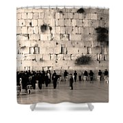 Western Wall Photopaint One Shower Curtain