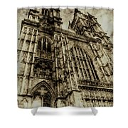 Westminster Abbey London Vintage Shower Curtain