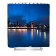 Westminster Blue Hour Shower Curtain