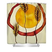 Wheat And Sun Shower Curtain