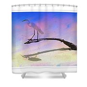 White Bird Shower Curtain