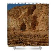 White Canyon Sinai Desert Egypt Shower Curtain
