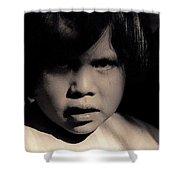 White Mountain Apache Girl Rodeo White River Arizona 1969-1984 Shower Curtain