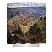Wiamea Depth Shower Curtain by Mike  Dawson
