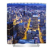 Wide Seattle Cityscape Shower Curtain