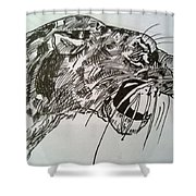 Wild Cheetah Shower Curtain