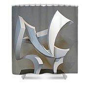 Wind Shower Curtain by John Neumann