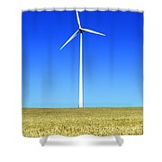 Wind Powered Electric Turbine Shower Curtain