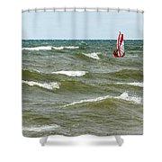Wind Surfing Shower Curtain
