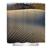 Wind Traces At The Desert Shower Curtain