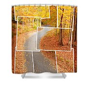 Winding Alley In Fall Shower Curtain