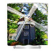 Windmill At Hofstra Shower Curtain