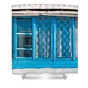 Window Of Soviet Building Shower Curtain
