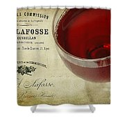 Wine Shower Curtain by Darren Fisher