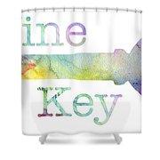 Wine Key Watercolor Shower Curtain