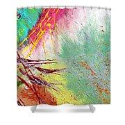 Modern Abstract Diptych Part 2 Shower Curtain