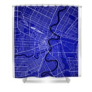 Winnipeg Street Map - Winnipeg Canada Road Map Art On Colored Ba Shower Curtain