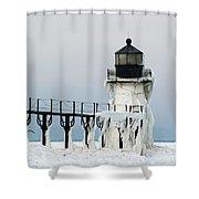 Winter At St Joseph's Light Shower Curtain