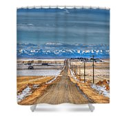 Winter Farmland Shower Curtain