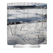 Winter Stream, Jasper National Park Shower Curtain