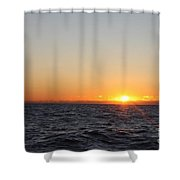 Winter Sunrise Over The Ocean Shower Curtain