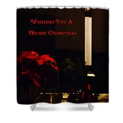 Wishing You A Merry Christmas Shower Curtain