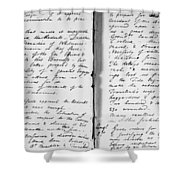 Wolfe Journal, 1759 Shower Curtain