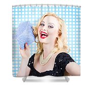Woman Cleaner Maid  Shower Curtain