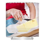 Woman Cooking Shower Curtain