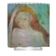 Woman Of Sorrows Shower Curtain by Laurie Lundquist